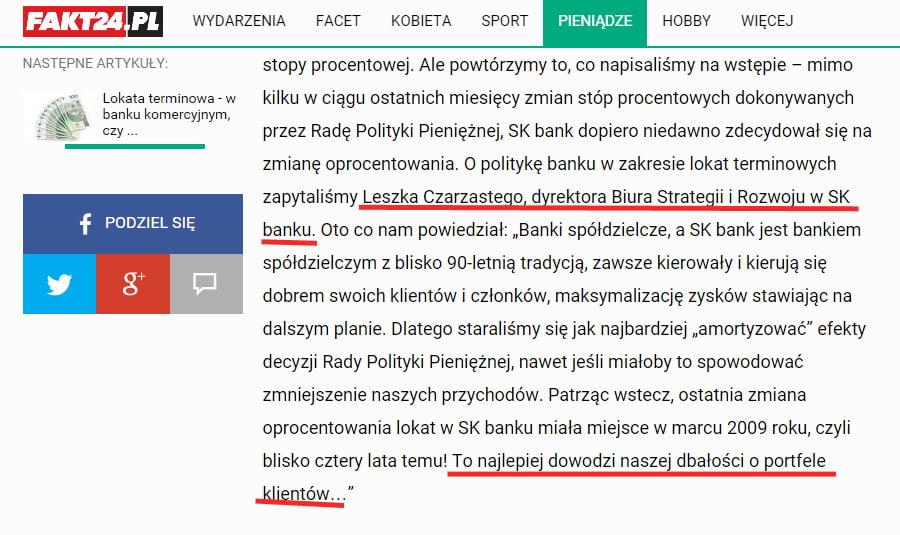 Burmistrz Ząbek o pieniądzach w SK Banku