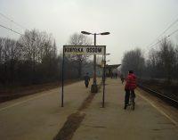 Zamknięty przejazd w Ossowie