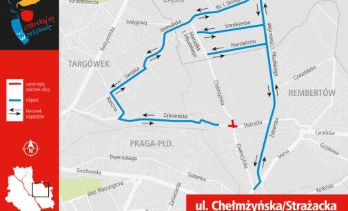 Weekendowe zamknięcie Chełmżyńskiej – objazdy