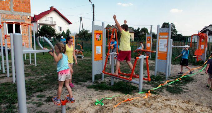 Nowa siłownia plenerowa w Lipinkach