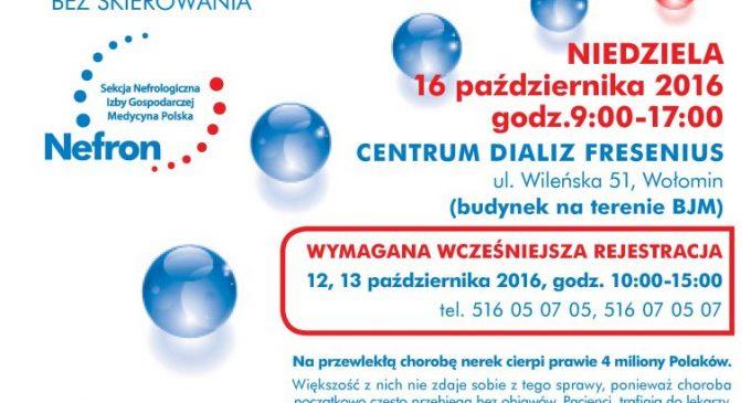 Kampania dla zdrowia nerek – bezpłatne badania w Wołominie