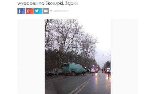 Utrudnienia na ul. Skorupki w Ząbkach