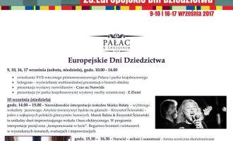 Europejskie Dni Dziedzictwa 2017 w Pałacu w Chrzęsnem
