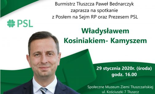 Władysław Kosiniak-Kamysz odwiedzi Tłuszcz