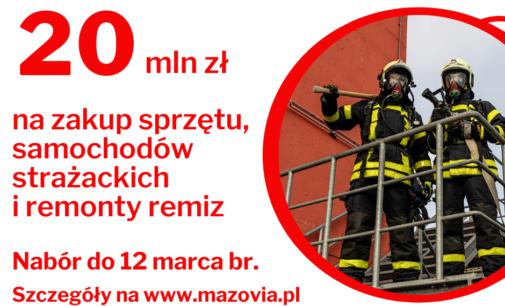 Mazowsze wspiera strażaków